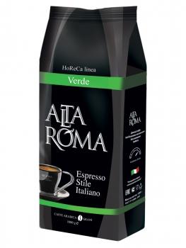 Кофе в зернах Alta Roma Verde (Альта Рома Верде)  1 кг, вакуумная упаковка