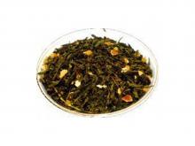 Чай зеленый Японская липа, упаковка 500 г, крупнолистовой ароматизированный чай