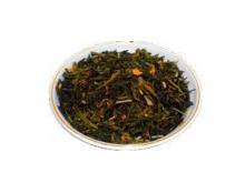 Чай зеленый Лимон с имбирем, упаковка 500 г, крупнолистовой ароматизированный чай