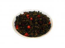 Чай зеленый Земляника со сливками, упаковка 500 г, крупнолистовой  ароматизированный чай