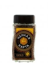 Кофе растворимый Черная карта Gold (Голд)  95 г, стеклянная банка