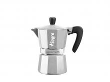 Кофеварка гейзерная Bialetti Aeternum Allegra SILVER (3 чашки)