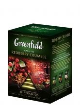 Чай ароматизированный Greenfield Redberry Crumble (Гринфилд Редберри Крамбл), 20 пакетиков, в пирамидках